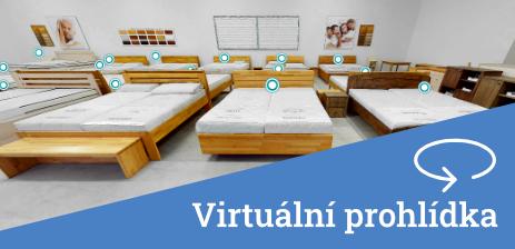 Virtuální prohlídka showroomu značkových postelí MONTERO